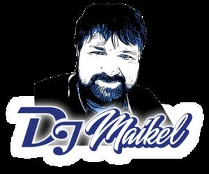 DJ Kiel Maikel bild Gezeichnet mit Blau und Schwarz mit DJ Logo